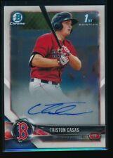 TRISTON CASAS AUTO 2018 1st Bowman Draft Chrome Autograph Red Sox Rookie Card RC