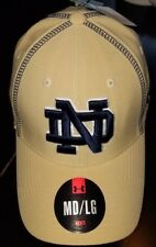 #1242 M/L Notre Dame Fighting Irish Under Armour Hat-Gold W/Blue Stitching NWT