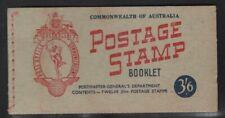Australia 1953 3/6 Vermilion & Blue booklet Sg# Sb31