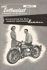 1955 March - The Enthusiast - Vintage Magazine - Harley-Davidson Hummer