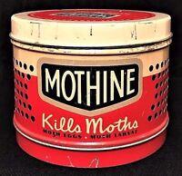 Vintage Mothine Advertising Tin, 1949, Galree Products, New York