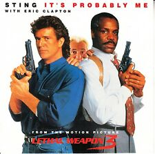 STING & ERIC CLAPTON  It's Probably Me PICTURE SLEEVE LETHAL WEAPON 3 record 45