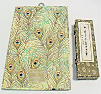 Vintage Cloisonne Pen in Chinese Fabric Box with Bone Handles Plus LadyJayne Pad