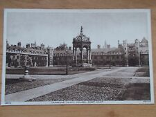 VINTAGE POSTCARD - TRINITY COLLEGE - GREAT COURT - CAMBRIDGE