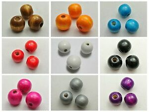 50 Round Wood Beads 16mm Large Wooden Beads Color for Choice