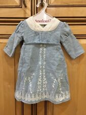 "American Girl CAROLINE 18"" DOLL BIRTHDAY Outfit BLUE DRESS ONLY Retired"