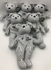 1998 New York Yankees Champs Salvino's Bamm Beanos Bear Plush Toy 6 ct Set Jeter