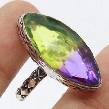 Ametrine 925 Silver Plated Handmade Gemstone Ring of US Size 8.5 Ethnic Gift