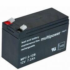 Multipower MP 7.2-12B 12V 7,2AH AKKU UPS USV SU700 SU1400 SU1000 SU600