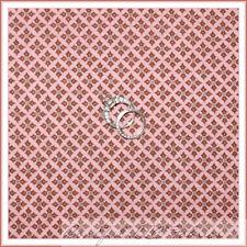 BonEful Fabric FQ Cotton Quilt Pink Brown Calico Diamond Stripe Pattern Print S
