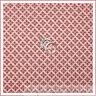BonEful Fabric FQ Cotton Quilt Pink Brown Sm Calico Diamond Stripe Pattern Print