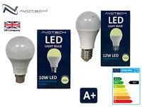 LED 10W 12W BC B22 ES E27 GLS Light Bulbs Warm White 3500K A+ Lighting