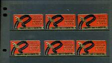 6 Vintage Lubbock Tx Poster Stamps (L985) Coronado Cuarto South Plains Fair