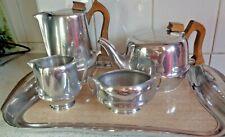 More details for vintage piquot ware magnailium full 5 pc set 50/60s  very good condition