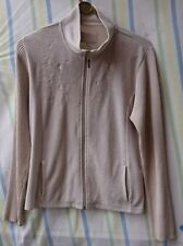 Ladies Jumper By Per Una (M&S) Cream Size Large Full Zip