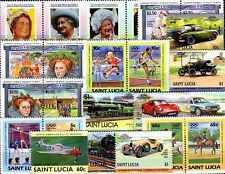 Sainte-Lucie - Saint Lucia 100 timbres différents