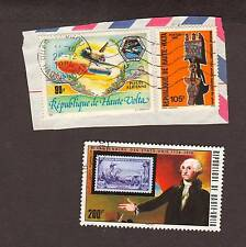 3 Vintage postage stamps loose world/foreign HAUTE VOLTA
