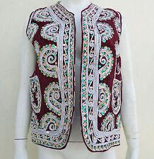 KUCHI AFGANO vintage etnico stile hippy/boho Gilet Donna Ricamo Vest kwc-51