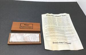 NOS NEW Vintage Brookstone Washita 3231.8 Natural Sharpening Oil Stone In Box