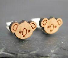 Einhorn Ohrringe aus Holz oder Ohrclips Paar für Kinder handbemalt Kinderschmuck