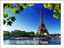 EIFFEL TOWER A4 (25.5cm x 19cm) EDIBLE ICING IMAGE CAKE TOPPER #1