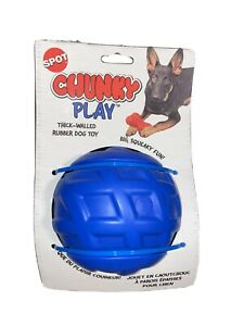Spot Chunky Play Blue Ball Squeaky Dog Toy