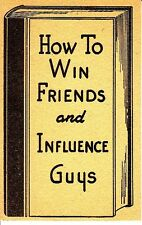 How To Win Friends and Influence Guys Money Vintage Small Greeting Card