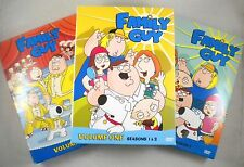 Lot of 3 FAMILY GUY DVD SETS - 10 DVD Set - Volumes 1 2 3 (Seasons 1 2 3 4)