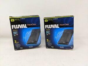 Lot of 2 Fluval Aqua Clear Carbon 3Pk. Filter Inserts