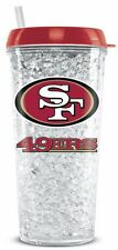 San Francisco 49ers Crystal Freezer Tumbler with Straw - 16oz [NEW] NFL Cup Mug