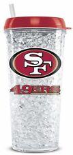 San Francisco 49ers Crystal Freezer Tumbler with Straw - 16oz [NEW] NFL Cup Mug