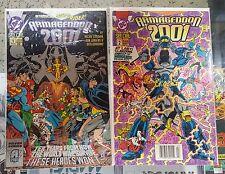 ARMAGEDDON 2001 #1 & 2 - DC Comics 1991 - Monarch & Waverider @