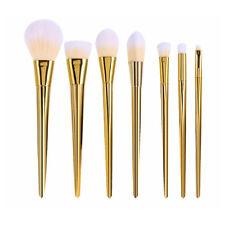 7PCS Gold Pro Makeup Brushes Set Powder Foundation Eyeshadow Lip Cosmetics Tools