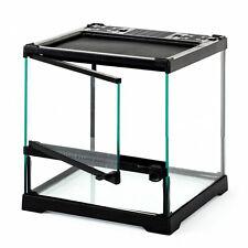 Reptile Mini / Wide Glass Terrarium Vivarium - 30x30x32 cm - Single Opening Door