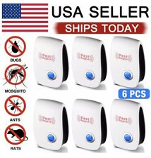 6 Pack 2020 Ultrasonic Pest Repeller Control Electronic Repellent Mice Rat Bugs