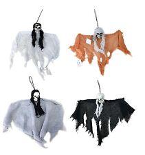 4pk Hanging Ghoul Ghost Skeleton Halloween  Decoration Display Prop 45cm Skulls