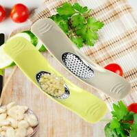 Stainless Steel Garlic Press Manual Grinder Chopper Crusher Kitchen Gadgets Tool