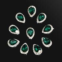 10Pcs 3D Rhinestone Crystal Alloy DIY Decoration Tips Nail Art Glitter Charms
