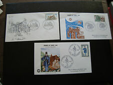 FRANCE - 3 enveloppes 1er jour 1968/1969 (journee du timbre/brou) (cy77) french