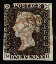Great Britain Stamp Scott#1 1p Queen Victoria Used