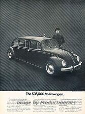 1971 VW Volkswagen Beetle Limo Original Advertisement Print Art Car Ad J809