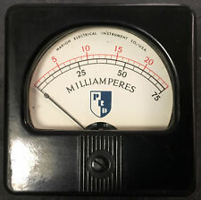 Marion Elec. Inst. Current Meter, dual scale, 25mA & 75mA, (simpson, weston)