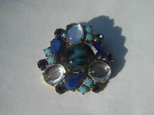 Czech Glass Rhinestones Button, Dazzle & Bling! Item 201