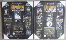 Pair of Pittsburgh Steelers Super Bowl Championship Plaques- Super Bowl 43 & 40