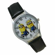 Despicable Me Movie MINIONS Genuine Leather Band Wrist Watch