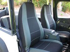 Jeep Wrangler Neoprene custom seat cover front pair Sahara Charcoal 1987-96 YJ
