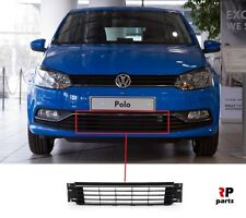 NEW VW POLO 6R 6C 2014 - 2018 CENTER FRONT BUMPER LOWER GRILLE CHROME 6C0853671N
