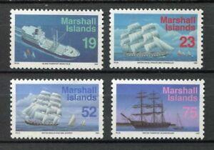 S2011) Marshall Isl. 1993 MNH Definitives, Ships 4v