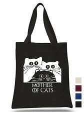 Mother of Cats Cotton Tote shopping office school book Bag Game of thrones fan