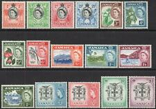 JAMAICA-1956-58 Set to £1 Sg 159-174 MOUNTED MINT V43949